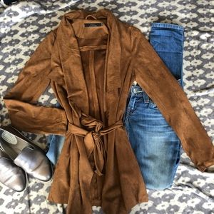 EUC⭐️ ONLY Faux-Suede Waterfall Jacket